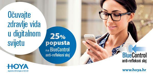 Očuvajte zdravlje vida u digitalnom svijetu uz anti-refleksni sloj Hi-Vision LongLife BlueControl